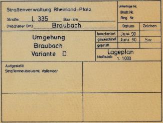 Umgehung Braubach Variante D - Auszug 2